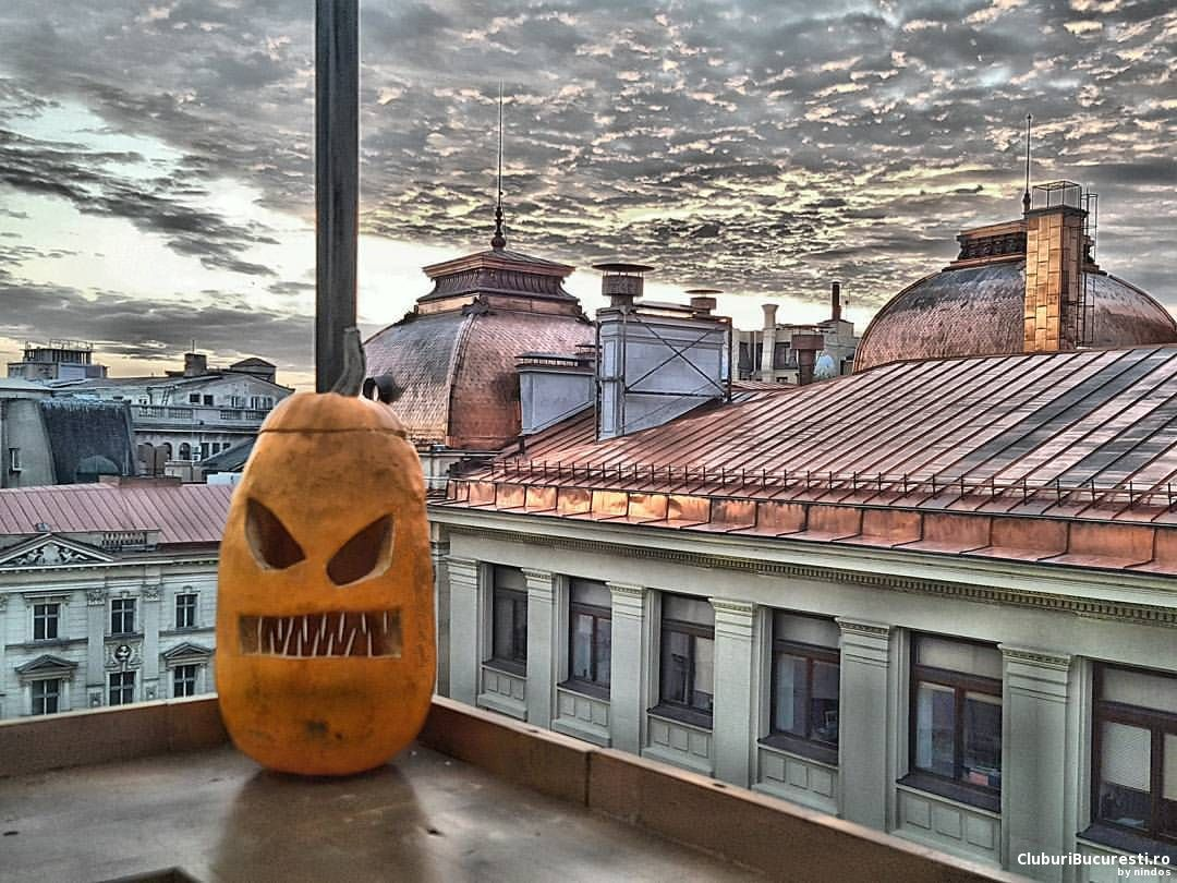 Halloween party with a view