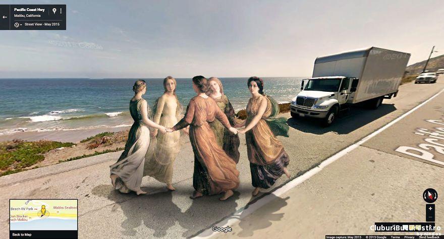 Picturi clasice invadeaza strazile de pe Google Street View