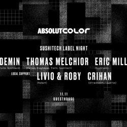 ABSOLUT COLOR prezintă Sushitech Label Night