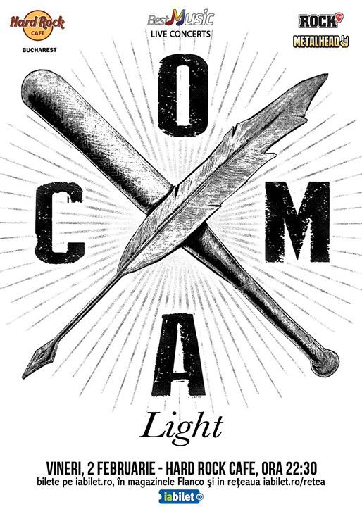 Coma Light (acustic), 2 februarie, Hard Rock Cafe