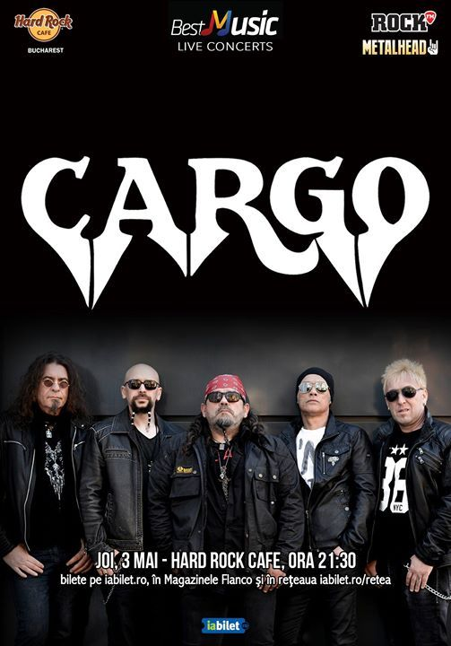 CARGO, 3 mai, Hard Rock Cafe