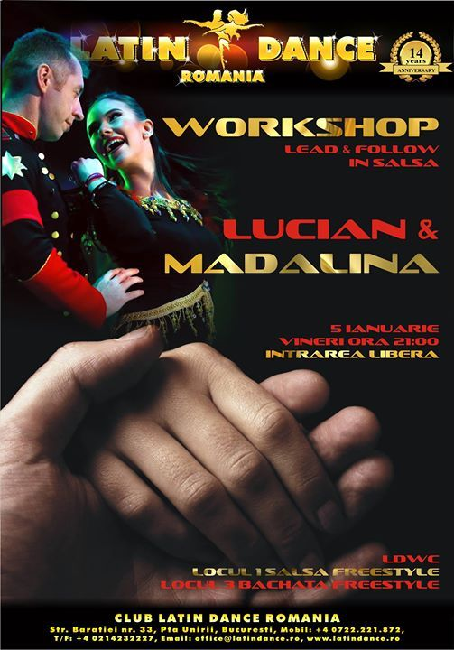 Workshop lead and follow in salsa