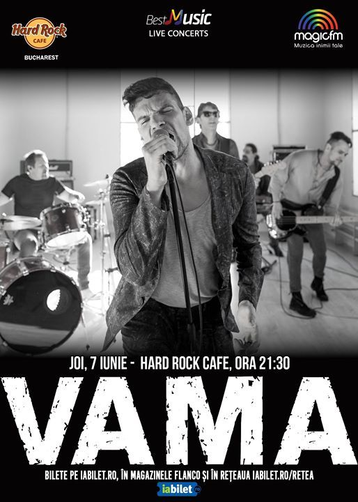 VAMA - electric, 7 iunie, Hard Rock Cafe
