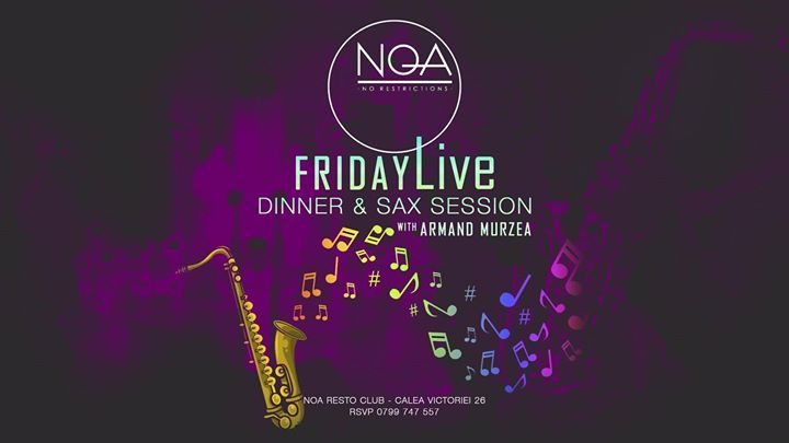 Friday Live Dinner Sax Session