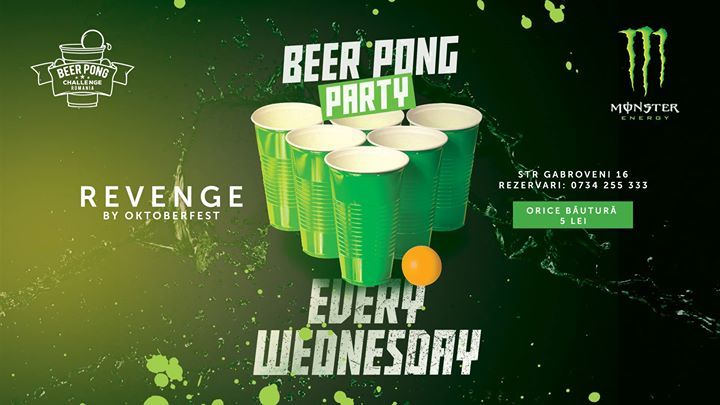 Beer Pong Party at Revenge #17 | February`s Final