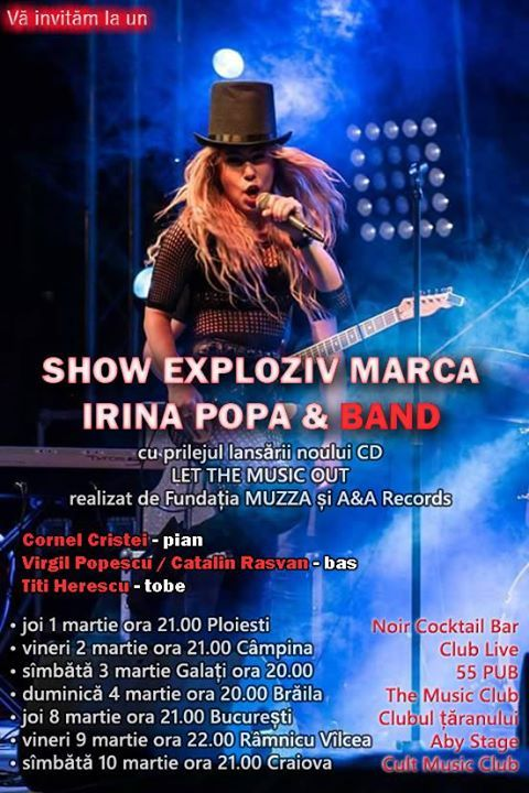 eveniment clubul taranului irina popa band let the music out