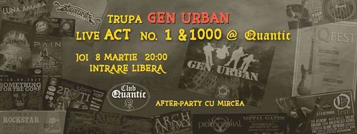 Gen Urban Live act no.1000 @Quantic