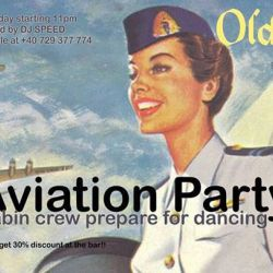 Aviation party * cabin crew prepare for dancing * Old City
