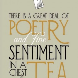 Poetry in a chest of tea print... Poetry in a chest of tea print