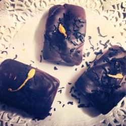 Chocolate truffles with Earl Grey and a good morni... Chocolate truffles with Earl Grey and a good morning