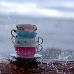 May showers bring tea hours... May showers bring tea hours