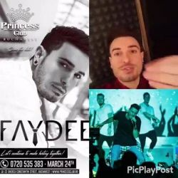 #PrincessClubBucharest, are you ready?!<br /> Faydee, LIVE CONCERT!<br /> MARCH 24th- #SAVETHEDATE<br /> Let`s continue to make history together!!!<br /> <br /> https://www.youtube.com/watch?v=vuRWbWYZ3KA<br /> https://www.youtube.com/watch?v=N_YcD_y