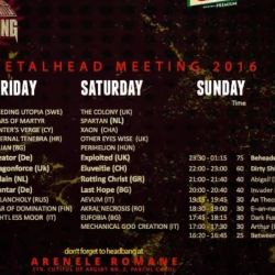 Beheaded va invita la Metalhead Meeting Festival !<br /> Kreator, Exploited, Eluveitie, Dragonforce, Beheaded, Rotting christ, Delain, Last Hope si alte 30 de trupe !<br /> 3-5 iunie, Arenele Romane, Bucuresti ! <br /> 100 de lei bilet de o zi / 150