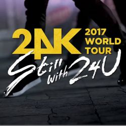 24K `Still with 24U` 2017 World Tour Promo Date:January 14, 2017 - Bucharest, Romania Venue:Palatul National al Copiilor Tickets:VIP ticket - 300 lei (meet & greet: high touch and photo) Poster signed ticket - 150 lei (poster signed)Normal ticket - 1