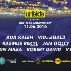 Unfelde Records presents 1 YEAR Anniversary 11.06.2016Let`s MOVe the city!#unfelde #ursulvine #proudlymadebyusRSVP: www.facebook.com/events/483461155185096