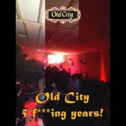 ...seara de seara in Club OLD CITY! <br /> 5 f***ing years! #oldcitynology<br /> Happy Birthday to us! :)