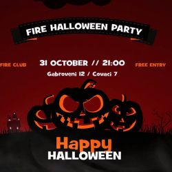 Fire Halloween Party<br /> 31 octombrie, ora 21:00<br /> Fire Club (Gabrobveni 12 / Covaci 7)<br /> https://www.facebook.com/events/176305299373196/